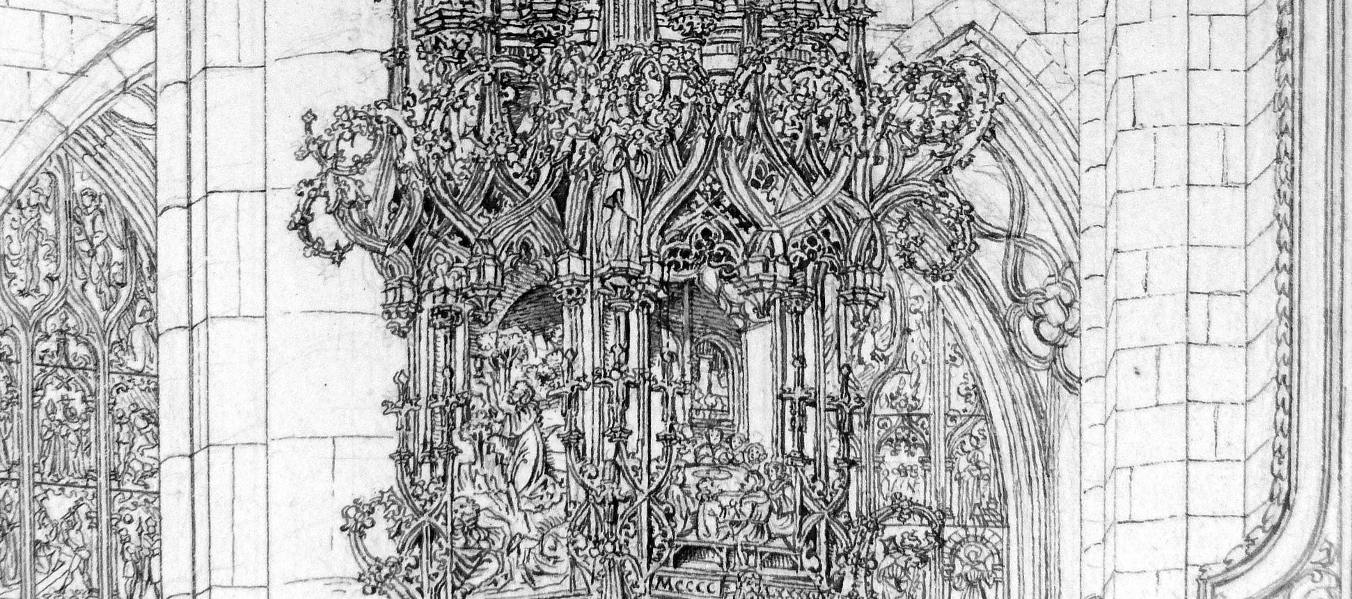 Das Sacramenthäuschen in der Kirche zu St. Lorenz Gesprenge
