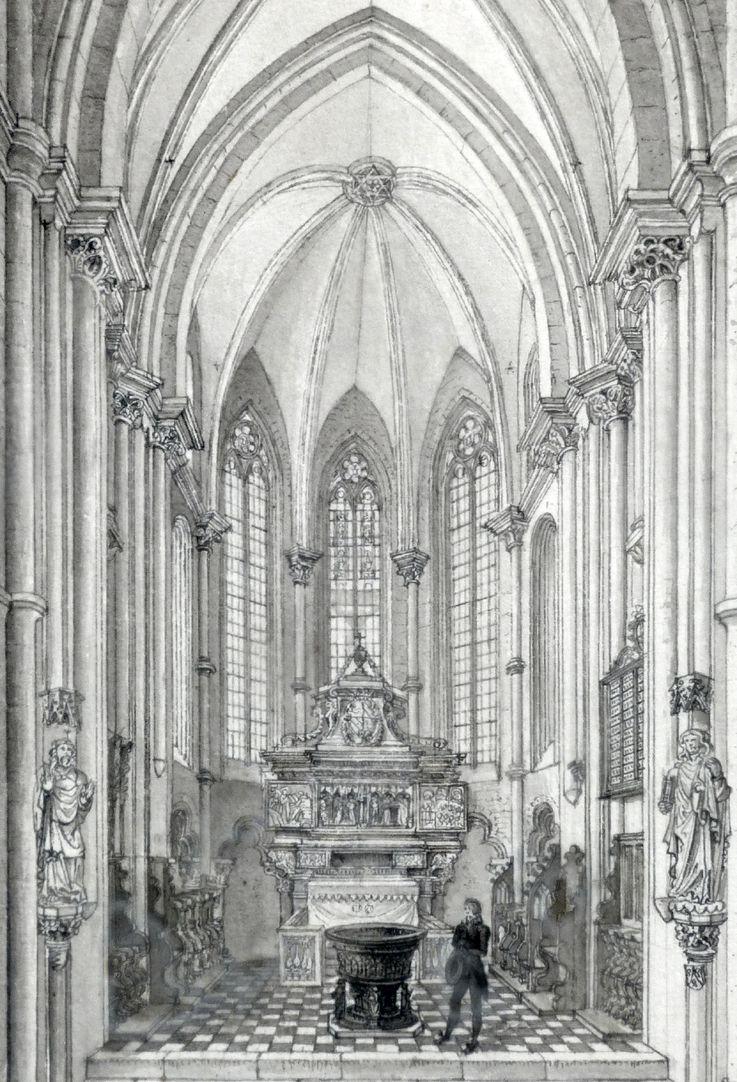 Das Innere der Sebaldskirche zu Nürnberg, Westchor Detail