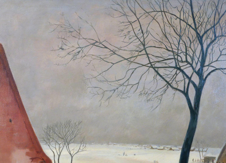 Winter im Knoblauchsland bei Nürnberg Bildausschnitt rechtes oberes Bildfeld