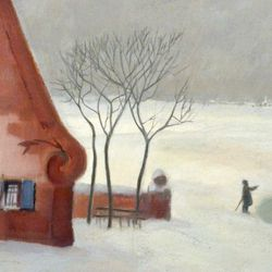 Winter im Knoblauchsland bei Nürnberg