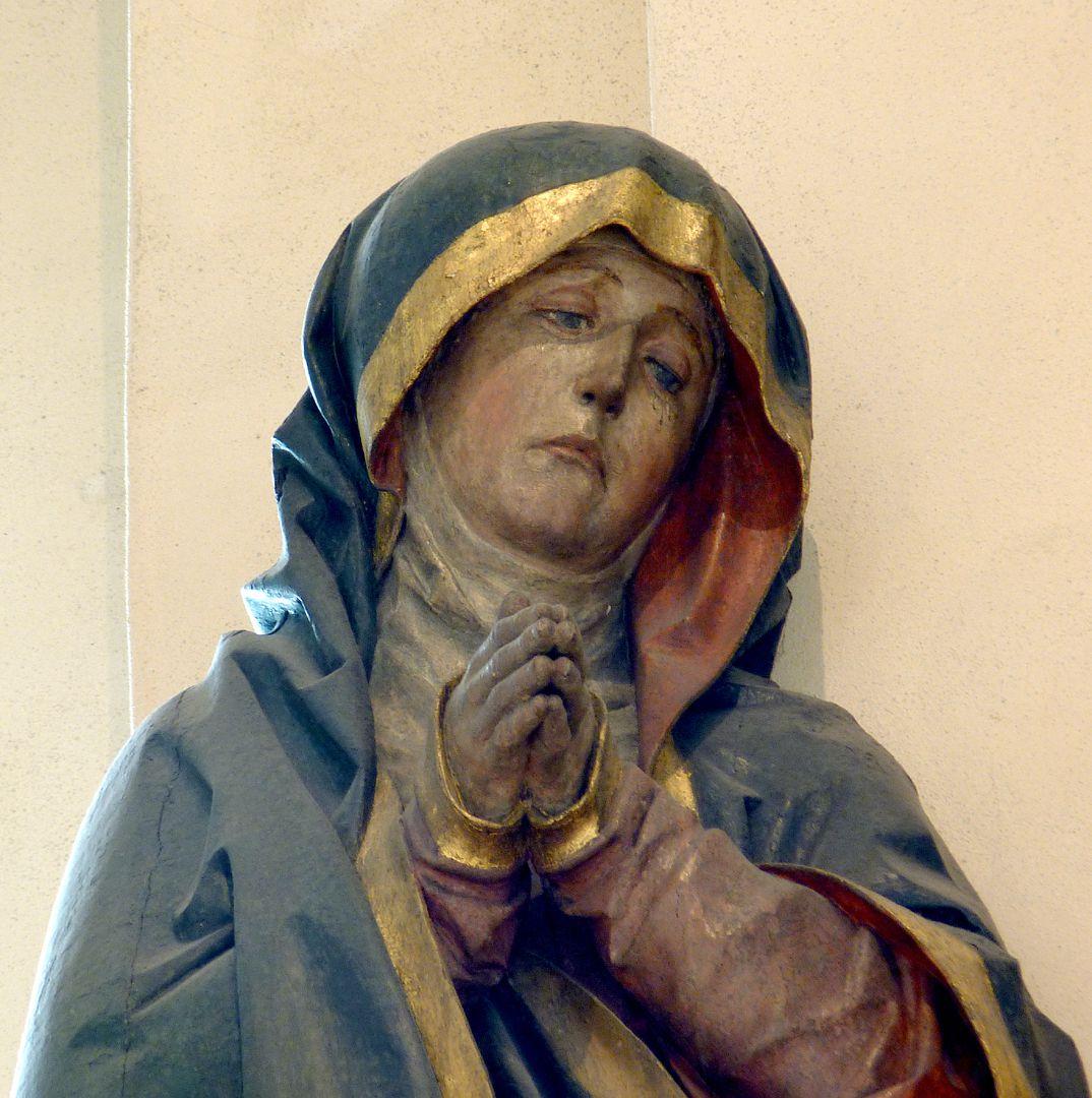 Kreuzigungsgruppe Detail der Maria