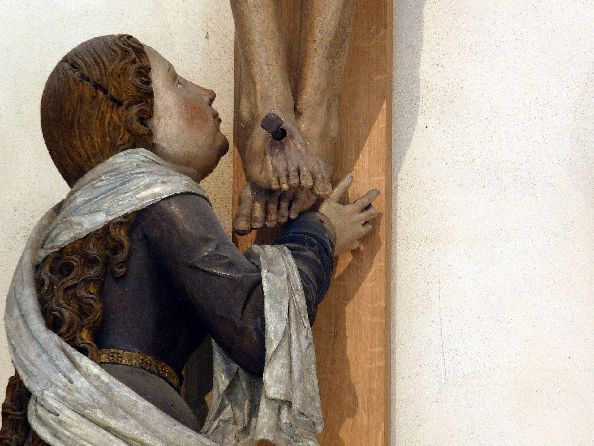 Kreuzigungsgruppe Maria Magdalena, Detail