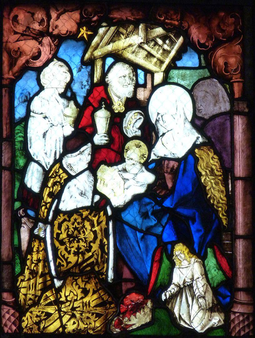 St. Bartholomäus, Chorfenster n II Dritte Zeile, Fenster a, Anbetung der Könige