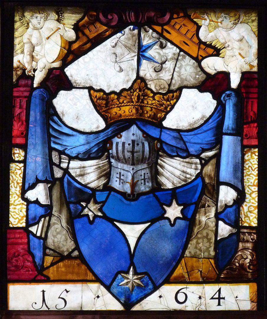 St. Bartholomäus, Chorfenster n III Geudersches Wappen, 1564