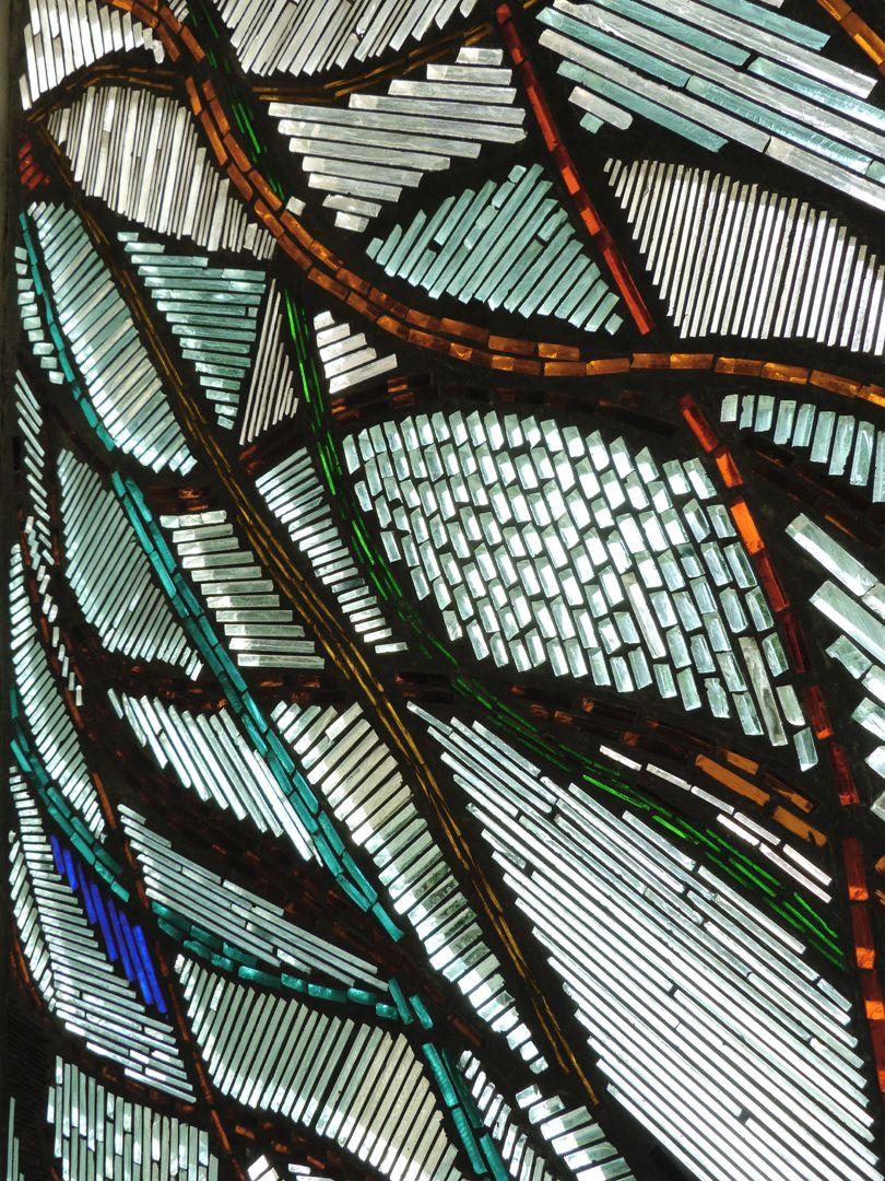 Wohnhausfenster Schrägansicht, Detail