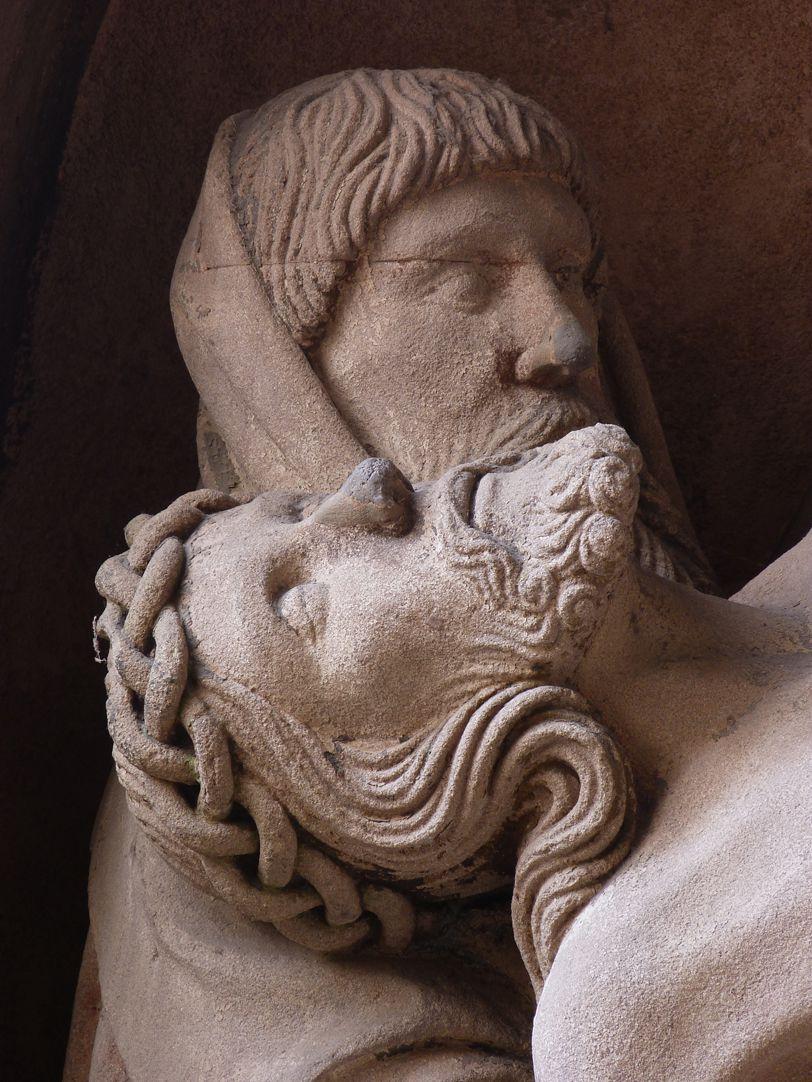 Grablegung Christi Der tote Christus mit Joseph von Arimathäa, Detail