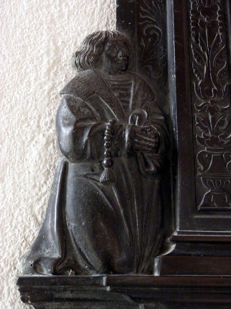 Beweinung Christi: Epitaph Eisen-Behaim kniender Stifter Wolfgang Eisen