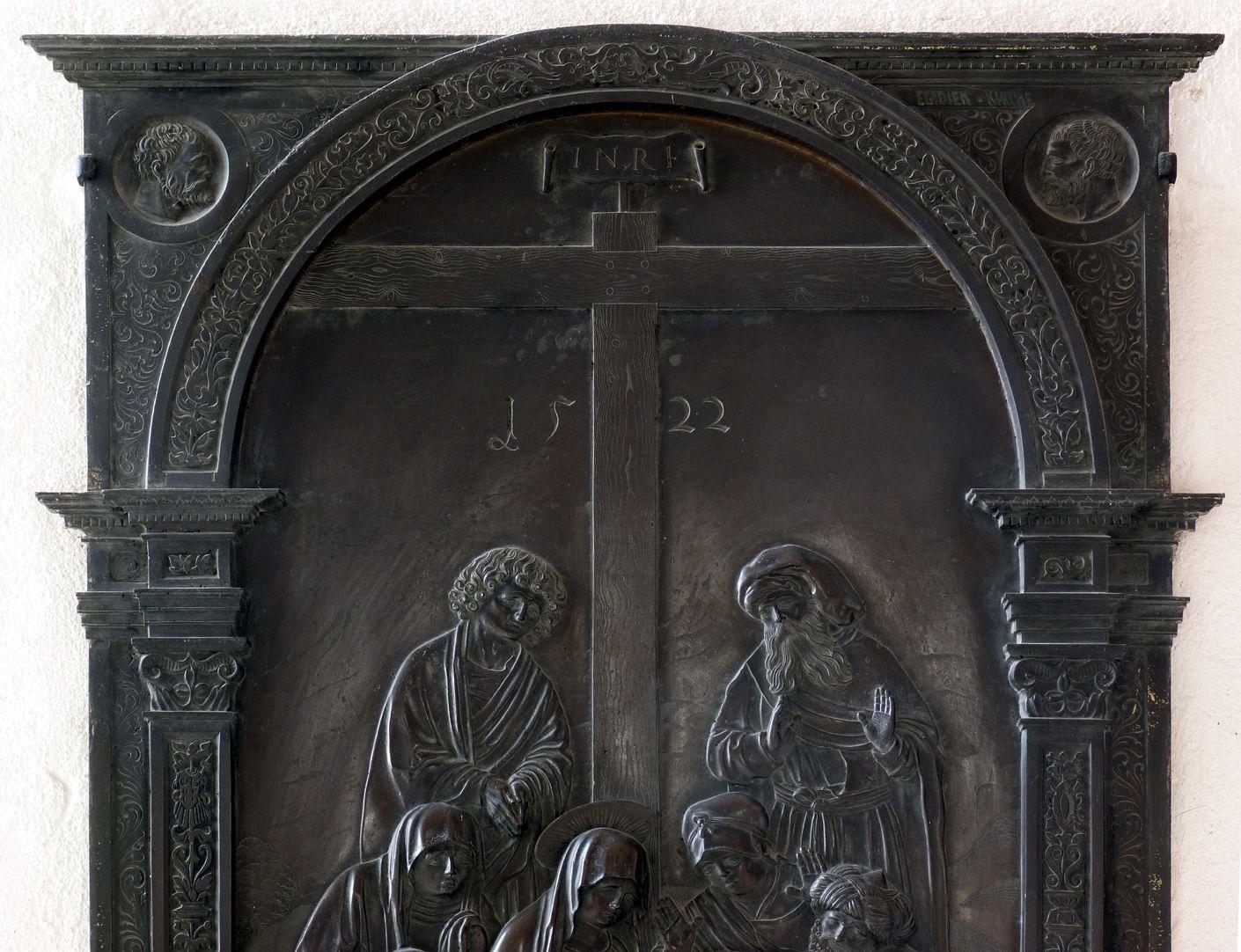 Beweinung Christi: Epitaph Eisen-Behaim obere Ädikulahälfte