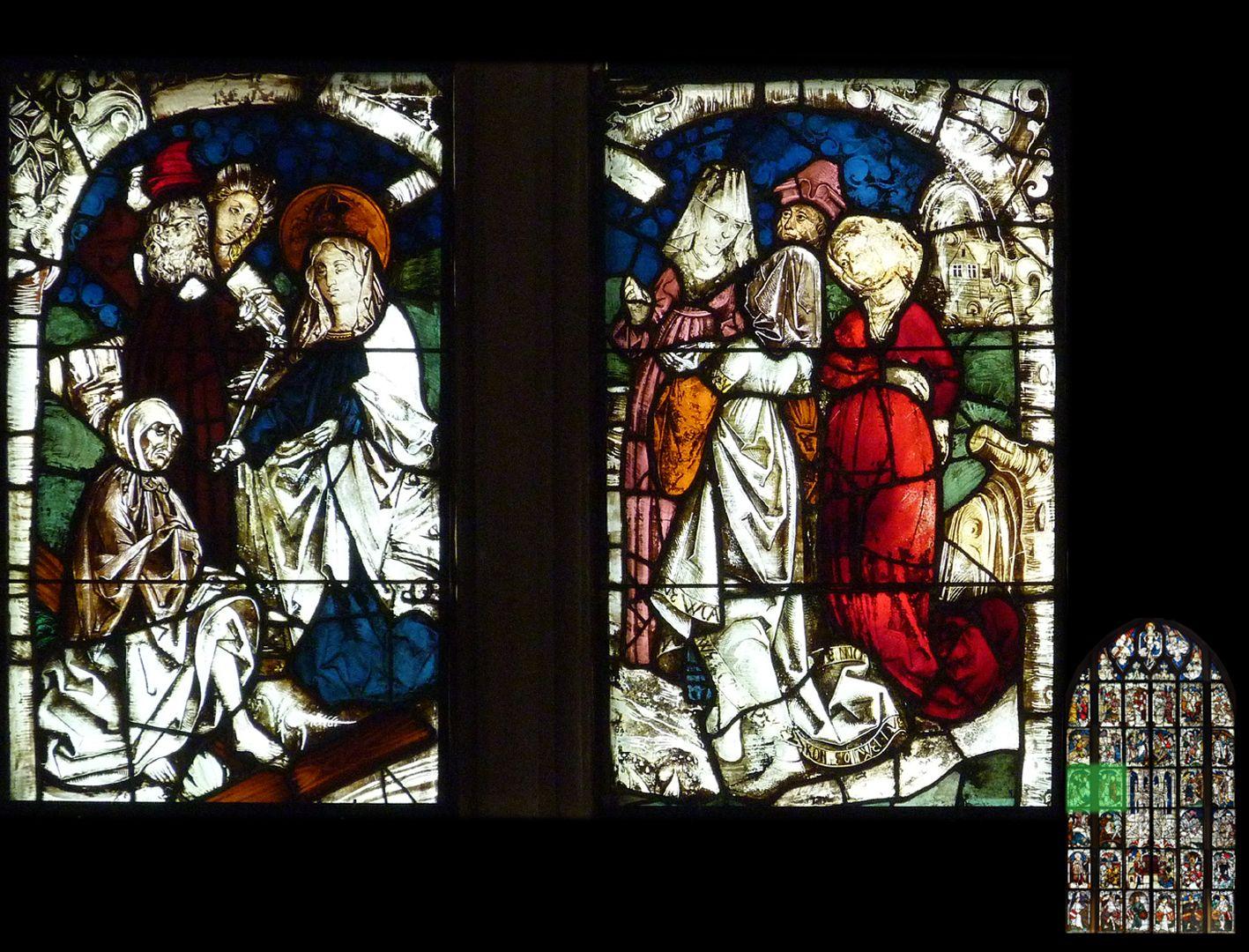 Kaiserfenster Kreuzprobe: ein wiederauferweckter Toter bestätigt die Echtheit des Kreuzes