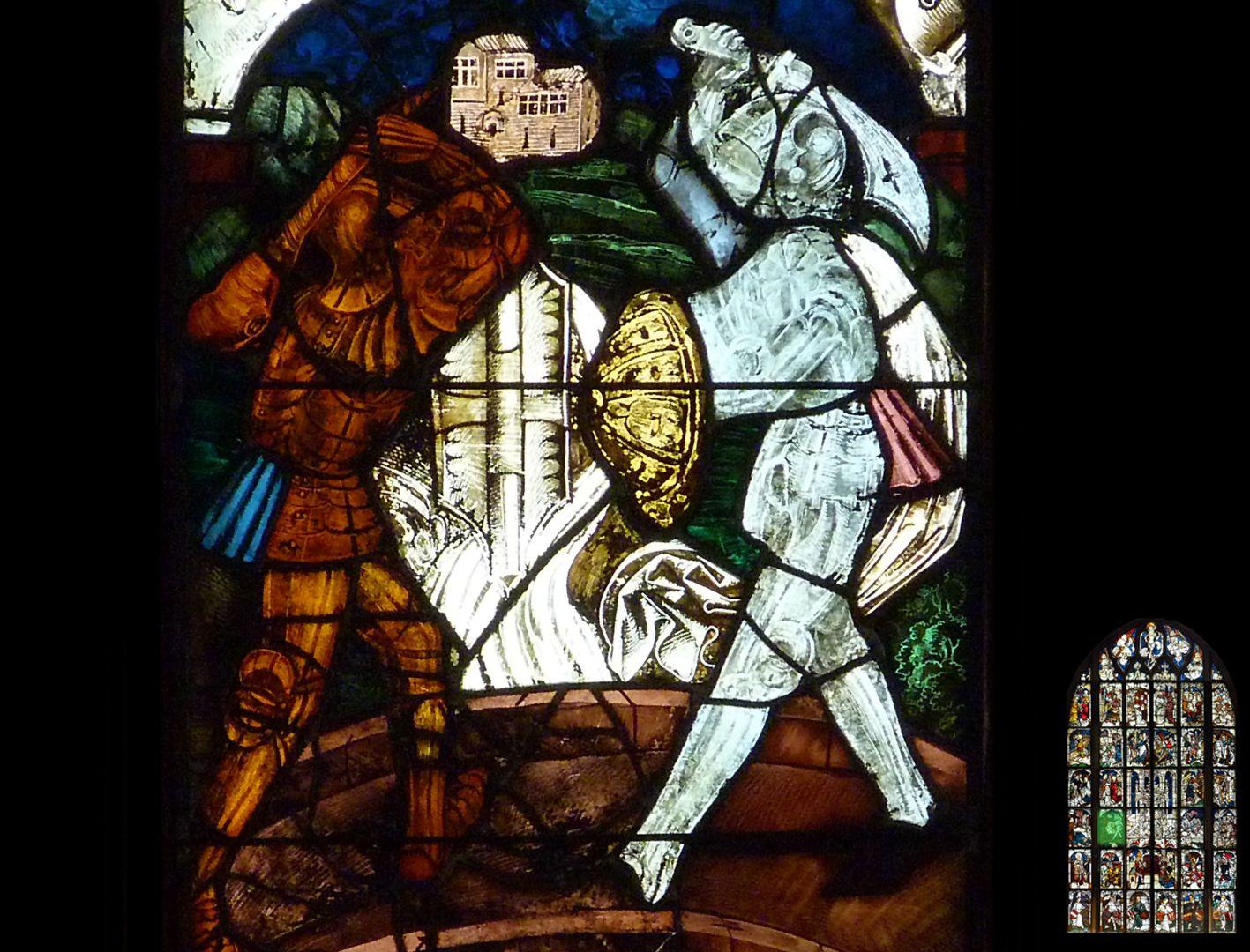 Kaiserfenster Zweikampf zwischen Kaiser Heraklius und Perserkönig Chosroe
