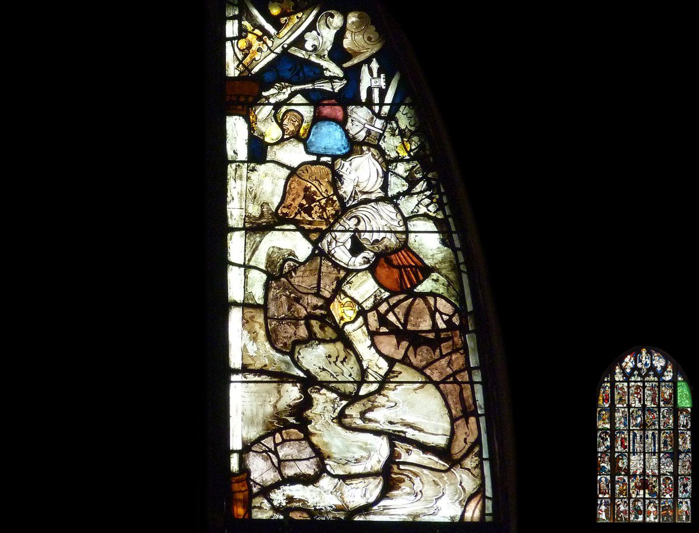 Kaiserfenster siegreiche Schlacht an der Milvischen Brücke im Jahre 312, rechtes Glas