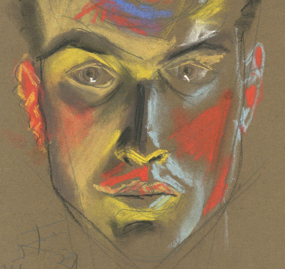 Expressionistisches Selbstporträt Detailansicht