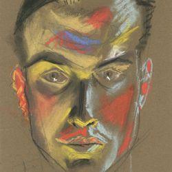 Expressionistisches Selbstporträt