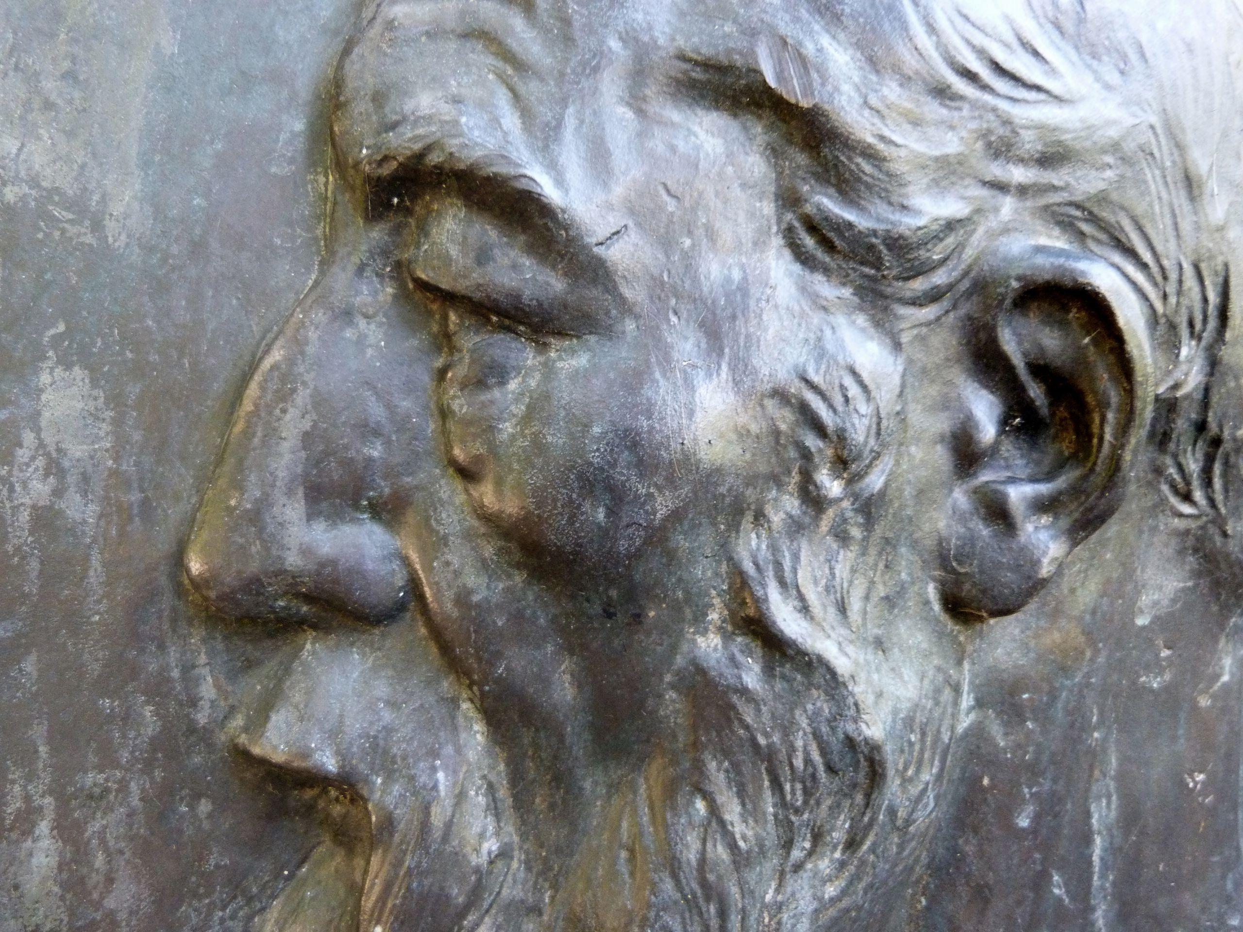 Gedenktafel, Ludwig Andreas Feuerbach Portraitdetail
