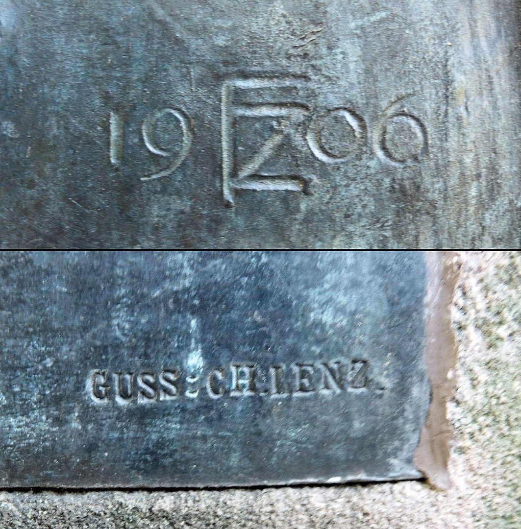 Gedenktafel, Ludwig Andreas Feuerbach Signatur von Künstler und Gießer