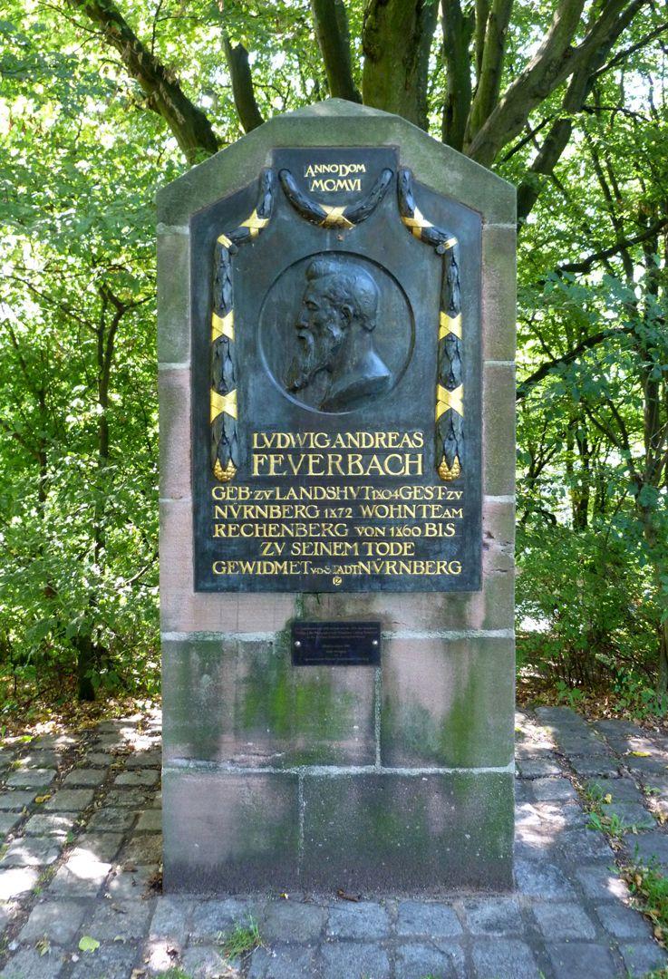 Gedenktafel, Ludwig Andreas Feuerbach Gesamtansicht