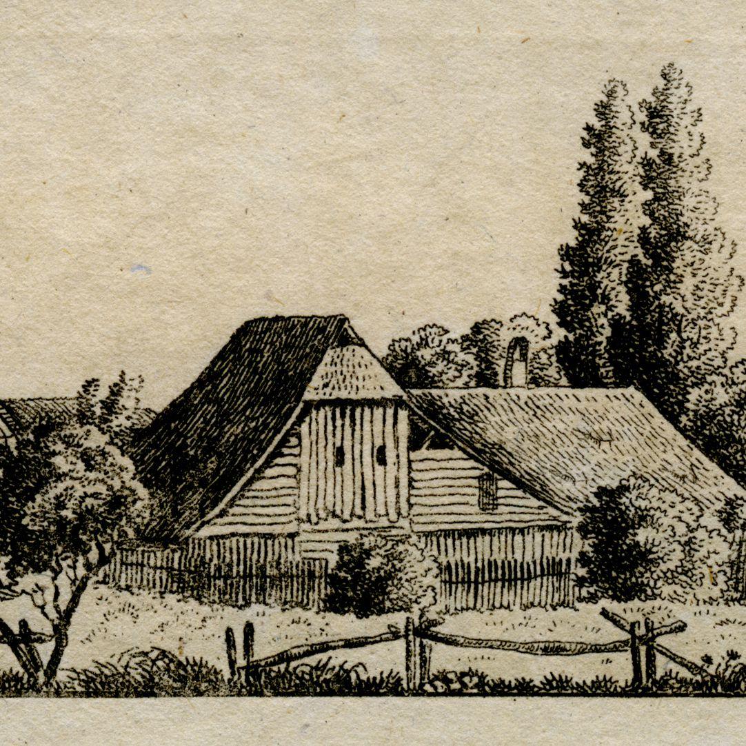 Zerzabelshof vom Wald her Detailansicht, Hofgebäude