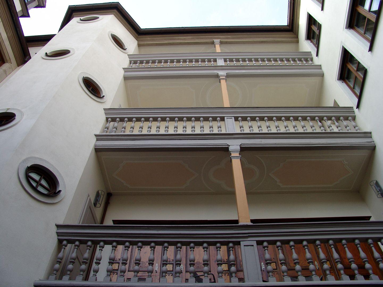 Treppen<p>um 1600</p><p>Rahmenstuck von 1718</p><p> <br></p>